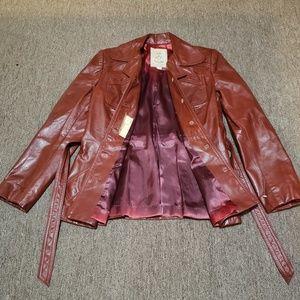 Gassy Jack vintage leather rustic brown jacket